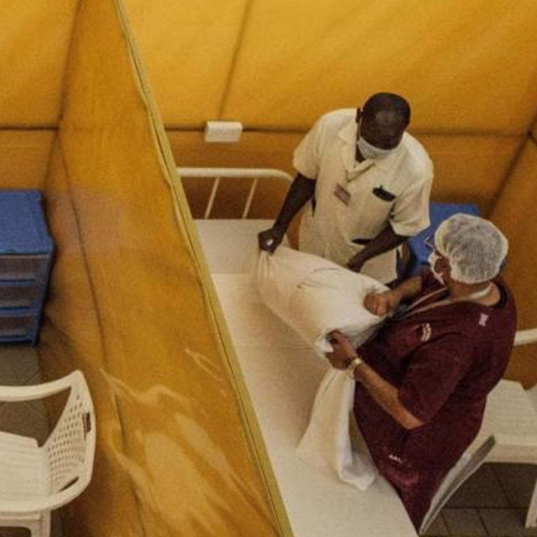 A new Lagos isolation and treatment center erected as an additional measure to handle the outbreak of the coronavirus in Lagos, Nigeria