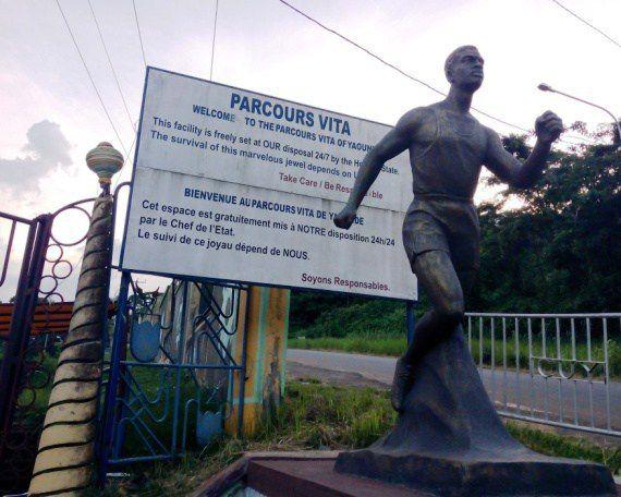 Yaoundé's Parcours Vita. Photo from http://sporefo.over-blog.com/2018/07/le-parcour-vita-yaounde.html
