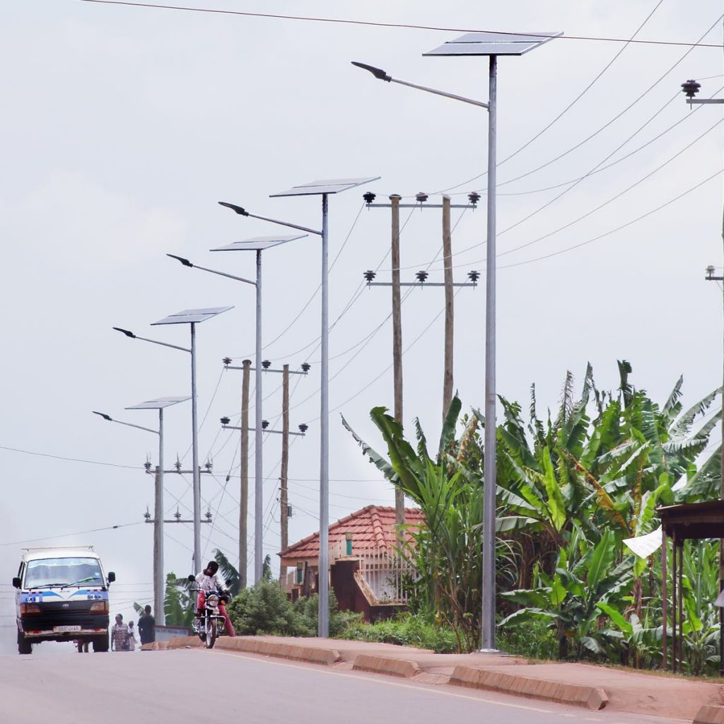 Jinja street lights. Photo from https://theconversation.com/insights-from-uganda-on-why-solar-street-lights-make-sense-114634v